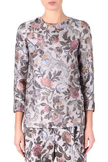 DRIES VAN NOTEN Floral silk top