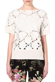 DRIES VAN NOTEN Lace panel top