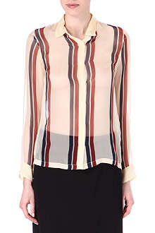DRIES VAN NOTEN Silk stripe shirt