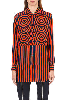 DRIES VAN NOTEN Ceser stripe-print silk shirt