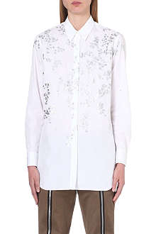 DRIES VAN NOTEN Cesar leaf-motif shirt