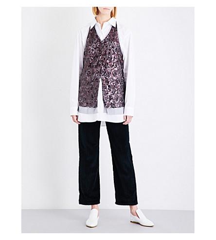 DRIES VAN NOTEN Chanty sequin-embellished tulle halterneck top (Auber