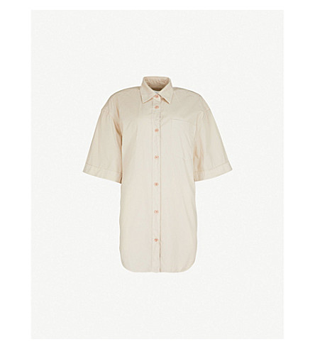 DRIES VAN NOTEN Loose-fit cotton shirt (Rose