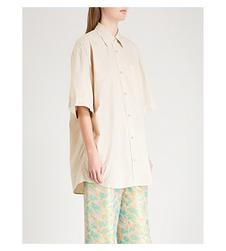 DRIES VAN NOTEN Loose-fit cotton shirt (Rose