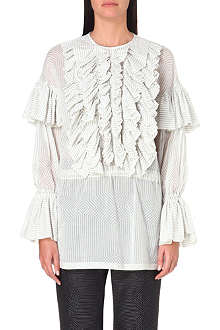 DRIES VAN NOTEN Ruffle sleeve blouse
