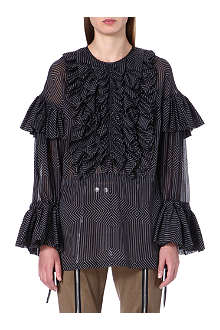 DRIES VAN NOTEN Cheyanne ruffled cotton blouse