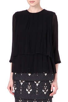 DRIES VAN NOTEN Pleated chiffon top