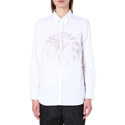 DRIES VAN NOTEN Cindy sphere-print cotton shirt (White