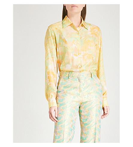 DRIES VAN NOTEN Clavell silk shirt (Green