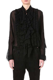 DRIES VAN NOTEN Ruffle-front shirt