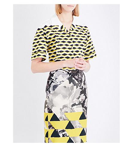 DRIES VAN NOTEN Geometric-print cotton shirt (Desa