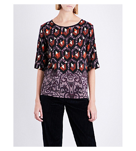 DRIES VAN NOTEN Cong silk top (Des+a