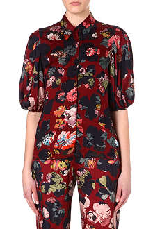 DRIES VAN NOTEN Floral crepe shirt