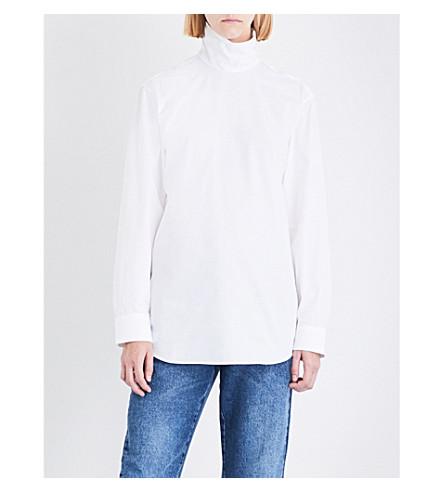 DRIES VAN NOTEN Conti high-neck cotton shirt (White