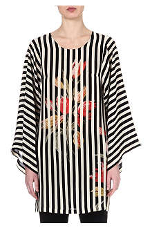 DRIES VAN NOTEN Striped kimono top