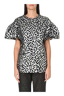DRIES VAN NOTEN Metallic jacquard top