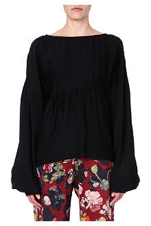 DRIES VAN NOTEN Puff sleeve top