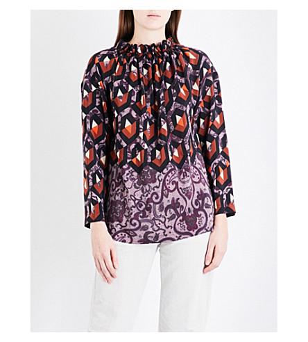 DRIES VAN NOTEN Criel silk-crepe de chine blouse (Des+a