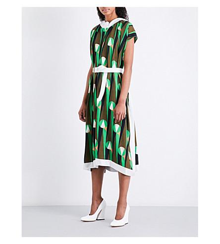 DRIES VAN NOTEN Dabor crepe dress (Green
