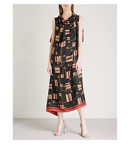 DRIES VAN NOTEN Dabores silk dress (Black