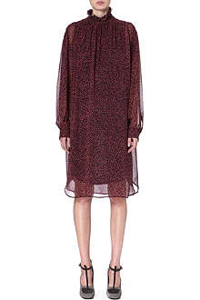 DRIES VAN NOTEN Dalva high-neck silk dress