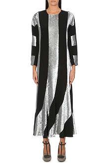 DRIES VAN NOTEN Damani sequin-panel silk dress