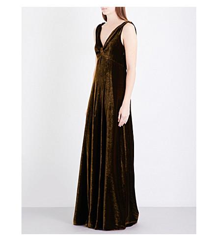 DRIES VAN NOTEN Daniels velvet gown (Brown
