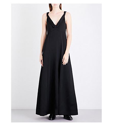 DRIES VAN NOTEN Daniels satin gown (Black