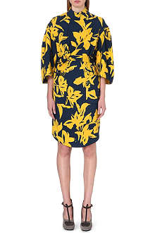 DRIES VAN NOTEN Danna floral-print wool dress