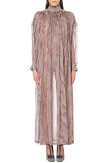 DRIES VAN NOTEN Daphine striped silk dress