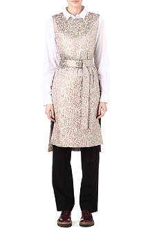 DRIES VAN NOTEN Brocade belted pinafore