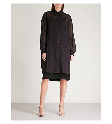 DRIES VAN NOTEN Dativus cotton shirt dress (Aubergine
