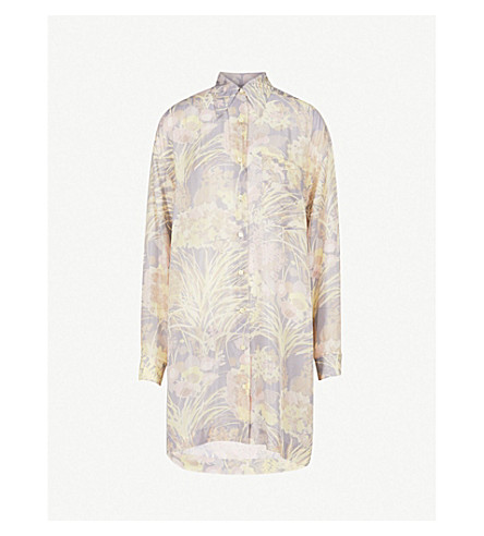 DRIES VAN NOTEN Silk shirt dress (Grey