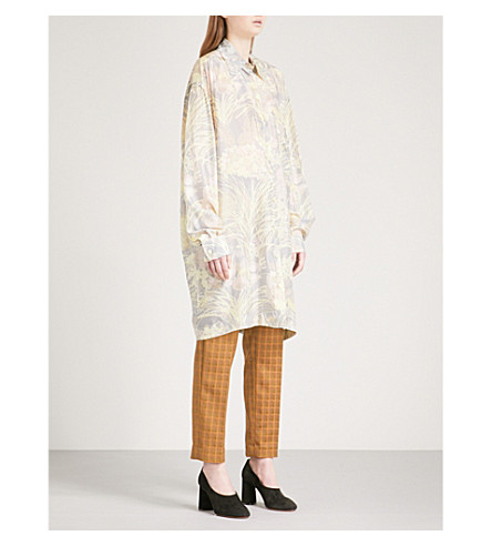 DRIES VAN NOTEN Dativus silk shirt dress (Grey