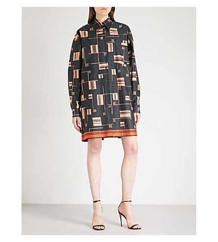 DRIES VAN NOTEN Dativus cotton shirt dress (Black