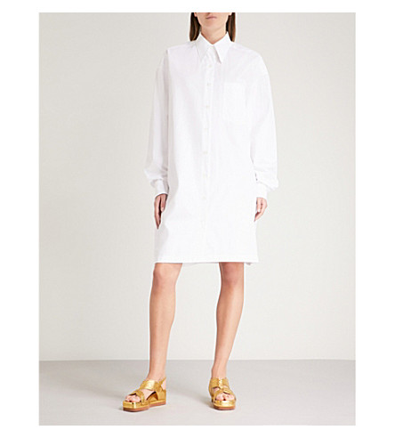 DRIES VAN NOTEN Cotton shirt dress (White