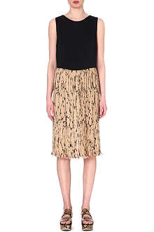 DRIES VAN NOTEN Printed contrast dress