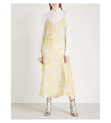 DRIES VAN NOTEN Delaxbis silk-blend camisole dress (Yellow
