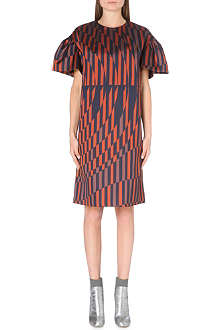 DRIES VAN NOTEN Deolas flared-sleeves oversized dress