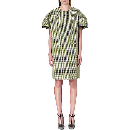 DRIES VAN NOTEN Deolas flared-sleeves oversized dress (Yellow