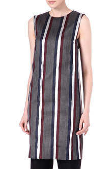 DRIES VAN NOTEN Derah lurex club stripe dress