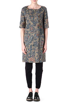 DRIES VAN NOTEN Floral quilted cottton dress