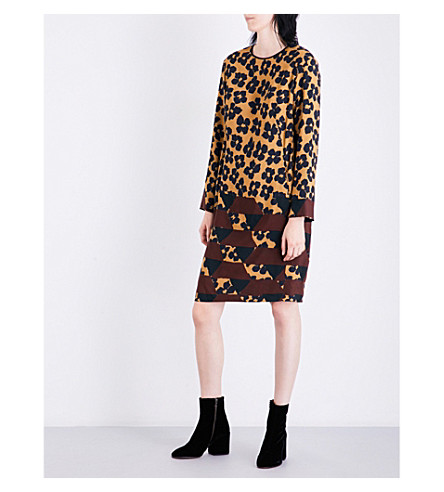 DRIES VAN NOTEN Dern crepe dress (Des+b
