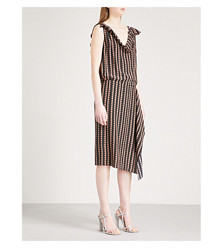 DRIES VAN NOTEN Silk dress (Black