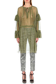 DRIES VAN NOTEN Desirae silk-chiffon tunic