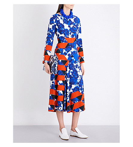 DRIES VAN NOTEN Dessie crepe midi dress (Des+c