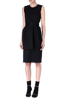 DRIES VAN NOTEN Two-tier wool-blend dress