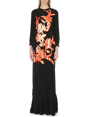 DRIES VAN NOTEN Diamo floral-motif crepe maxi dress
