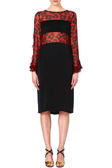DRIES VAN NOTEN Printed panel dress
