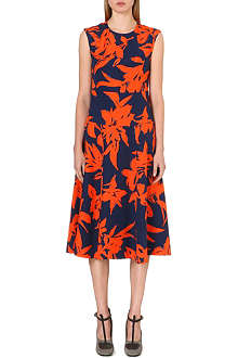 DRIES VAN NOTEN Donavon floral-print silk dress